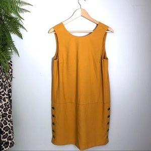 Banana Republic Mustard Yellow Shift Dress
